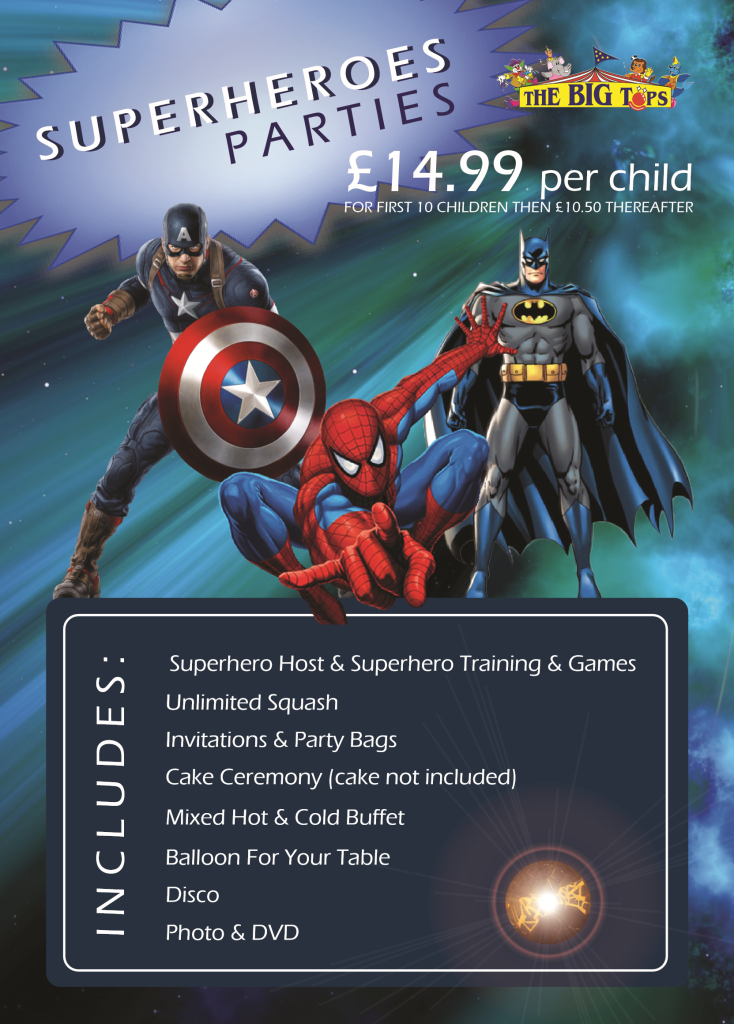 Want To Give Your Own Superhero A Perfect Party? Call Us!